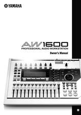 Yamaha aw1600 사용자 설명서