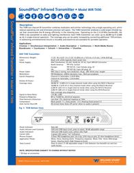 Williams Sound SoundPlus Infrared Transmitter WIR TX90 User Manual