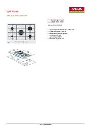 Mora VDP 775 W 390094 Leaflet