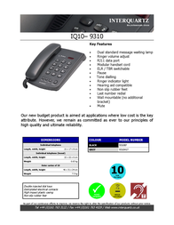 Interquartz 9310B7 Leaflet