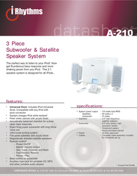 Cyber Acoustics A-210 Data Sheet