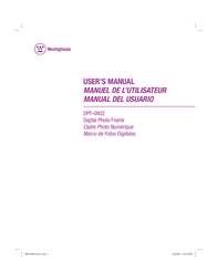 Westinghouse Digital Electronics DPF-0802 User Manual