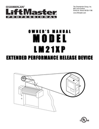 Chamberlain LM21XP User Manual