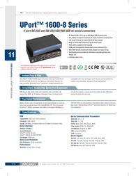 Moxa UPort 1610-8 Serial Hub UPORT 1610-8 Leaflet