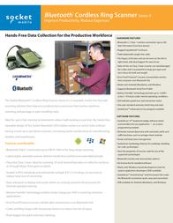 Socket Mobile CRS 9P RS5519-1075 Leaflet