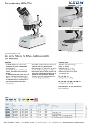 Kern Optics 40 x OSE 414 OSE 414 Data Sheet