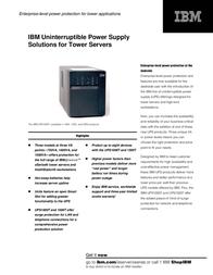 IBM UPS1500THV TOPSELLER OPTION 74P4932 User Manual