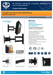 B-Tech LCD Articulating wall mount BT7515 Information Guide