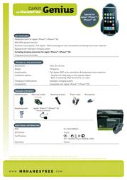 Mr. Handsfree Genius MRH-CK-GENIUS Leaflet