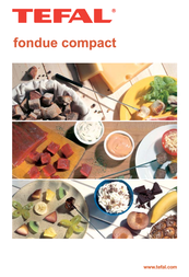 Tefal Compact Fondue Silver EF1000 User Manual