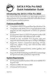 Siig eSATA II PCIe Pro RAID SC-SAE312-S3 User Manual