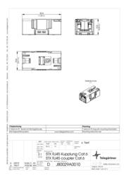 Telegaertner Telegärtner J80029A0010, Pin RJ45 Connector, straight J80029A0010 Data Sheet