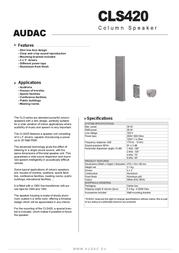 AUDAC CLS420 Leaflet