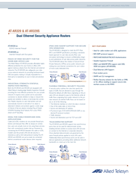Allied Telesis Small Branch Office Router AT-AR320 AT-AR320 User Manual