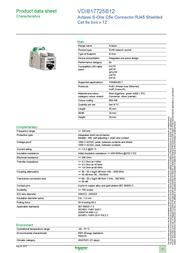 Schneider Cat5e RJ45 Connector VDIB17725B12 Data Sheet