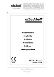 Efbe-Schott WK 232 S Data Sheet