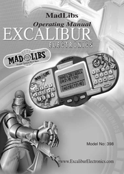Excalibur 398 User Manual