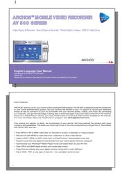 Archos AV 500 500710 User Manual