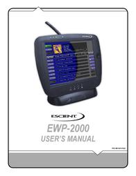 Escient EWP-2000 User Manual