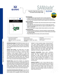 QLogic 4-Gbps single port Fibre Channel to x4 PCI Express host bus adapter multi-mode optic QLE2460-CK Leaflet