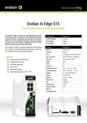 Endian 4i Edge 515 VPN Firewall Specification Guide