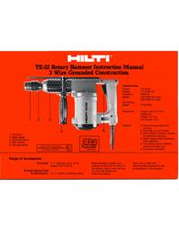 Hilti TE-22 Instruction Manual