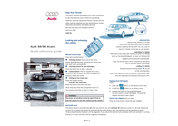 Audi s6 Quick Reference Card