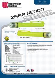 Underwater Kinetics UK2AAA Xenon Pen Light 13007 Leaflet