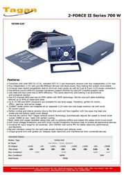Tagan TG700-U33 2-Force II TG700-U33 Leaflet