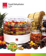 Ronco 5-Tray Food Dehydrator Instruction Manual