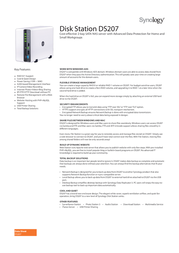 Synology Disk Station DS207 SATA NAS Server DS207 Leaflet