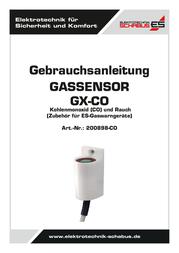 Schabus Gas sensor 200898-CO detects Carbon monoxide 200898-CO User Manual