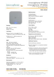 Innovaphone IP1202 50-01202-001 Leaflet