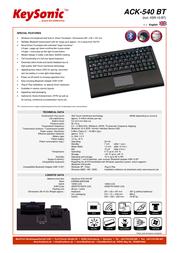 KeySonic ACK-540 BT ACK-540BT (DE) Leaflet