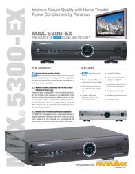 Panamax BEZ5300-EXS Leaflet