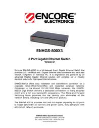 ENCORE ENHGS-800X3 User Manual