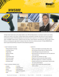 Wasp WWS800 Wireless Barcode Scanner, no base 633808502317 Leaflet