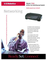 US Robotics 8-Port 10/100 Ethernet Switch USR847908A Leaflet