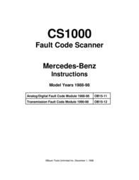 Mercedes Benz CS1000 User Manual