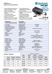 Mascot 2840_36V, Lead Acid Battery Charger, 2840_36V Data Sheet