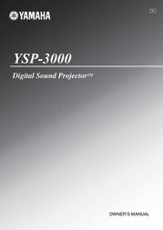 Yamaha YSP-3000 SoundProjector AYSP3000SIE User Manual
