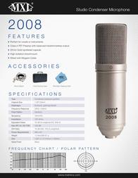 MXL Dynamic Microphone, Cardioid 2008 Leaflet