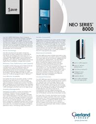 Overland Storage NEO 8000 LTO Ultrium 3 OV-LXN101576 Leaflet