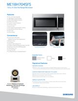 Samsung ME18H704SFG/AA Leaflet