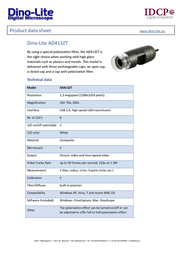 Dino-Lite AD413ZT Data Sheet