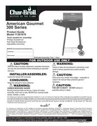 Char-Broil 300 SERIES 11301678 User Manual