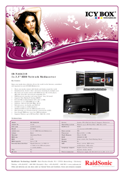 ICY BOX IB-NAS6210 43100 사용자 설명서