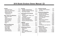 Buick 2010 Enclave User Manual
