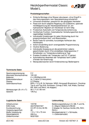 Eq 3 Thermostat head 5 up to 29.5 °C Thermostatic L valve 130809 Data Sheet