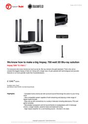 Teufel Impaq 7300 5.1-Set L 103800001 User Manual